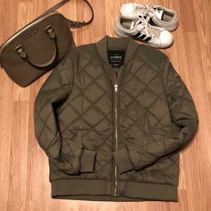 Cotton On Olive Green Bomber Jacket